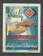 DENMARK Christliche Propagandamarke Poster Stamp Glaube Religion Christentum (*) - Christentum