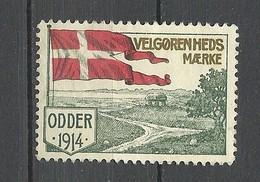 DENMARK 1914 ODDER Poster Stamp Reklamemarke Poster Stamp Flag Flagge (*) - Dänemark