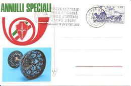 ITALIA - 1970 CAMPO LIGURE (GE)  Mostra Filigrana Oro E Argento - Annullo A Targhetta - Vacanze & Turismo