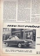 (pagine-pages)PUBBLICITA' NSU PRINZ    Successo1961/04. - Libri, Riviste, Fumetti