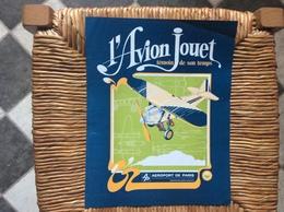 DOCUMENT COMMERCIAL AFFICHETTE AÉROPORT DE PARIS  L'Avion Jouet  ANNÉE 1979  381 - Transport