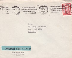 1966 COMERCIAL COVER- ANILINAS ARISI. CIRCULEE BUENOS AIRES ARGENTINE, BANDELETA PARLANTE- BLEUP - Lettres & Documents
