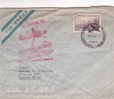1954 AIRMAIL COVER CIRCULEE BUENOS AIRES SERVICIO AERO POSTAL OBLITEREE 25 AMOVERSARIO DEL PRIMER VUELO COMERCIAL- BLEUP - Argentine