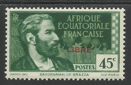 AFRIQUE EQUATORIALE FRANCAISE - AEF - A.E.F. - 1940 - YT 130** - A.E.F. (1936-1958)