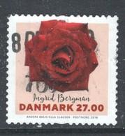 Denemarken Yv 1902 Jaar 2018, Rozen, Hoge Waarde,  ,gestempeld - Danemark