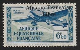 AFRIQUE EQUATORIALE FRANCAISE - AEF - A.E.F. - 1940 - YT PA 18** - VARIETE SURCHARGE ESPACEE ET DEPLACEE - A.E.F. (1936-1958)