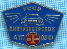 USSR / Badge / Soviet Union / UKRAINE Auto Transport Company Taxi. Passenger Car. Dnepropetrovsk 1980s - Other