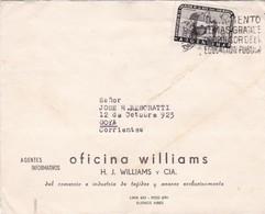 1960'S COMMERCIAL COVER- OFICINA WILLIAMS. CIRCULEE BUENOS AIRES TO CORRIENTES, ARGENTINE, BANDELETA PARLANTE- BLEUP - Lettres & Documents
