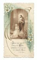 Image Religieuse Souvenir De 1ère Communion Eglise De La Guerche 1934 Imprimée à Saint Germain - Devotion Images