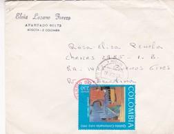 1992 COMMERCIAL COVER- ELVIA LOZANO TORERO, APARTADO. CIRCULEE COLOMBIA TO ARGENTINE- BLEUP - Colombie