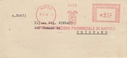Napoli. 1952. Affrancatura Meccanica Rossa AMMINISTRAZIONE PROVINCIALE DI NAPOLI L. 0,25 - Affrancature Meccaniche Rosse (EMA)