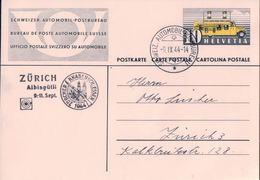 Carte Postale Suisse, Cachet Linéaire Zürich - Albisgütli Knabenschiessen 1944, Automobil-Postbureau (9.9.44) - Marcophilie