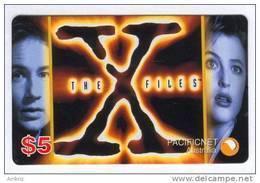 Australia - PacificNet - 1996 The X-Files 4 $5 Logo - Mint - Australia