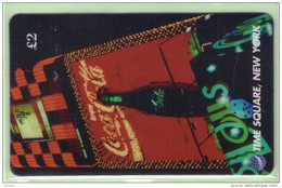 Great Britain - DIT - 1996 Coca Cola - £2 Time Square, NY, Sign - Mint - Advertising
