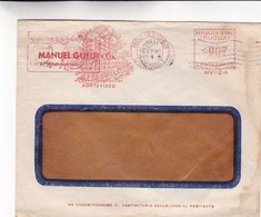 1948 COMMERCIAL COVER- MANUEL GUELFI Y CIA. CIRCULEE URUGUAY. FRANKING MACHINE- BLEUP - Uruguay