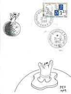 TAAF-Dumont D'Urville-T.Adélie: Carte Illustrée PEV Avec Timbre N°157 Amiral Douguet - 21/01/1993 - Lettres & Documents