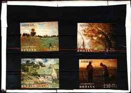 5901BIS ) Bhutan- ARTE VINCENT VAN GOGH Famoso Dipinto 3D MLH 1984-4 VALORI-MNH** - Bhutan