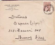1943 COMERCIAL COVER- JOSE ZARBA. CIRCULEE SANTIAGO DEL ESTERO TO BUENOS AIRES, ARGENTINE- BLEUP - Argentine