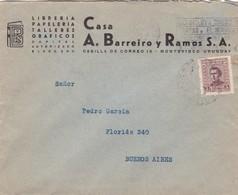 1929 COMMERCIAL COVER-CASA A.BARREIRO Y RAMOS SA. CIRCULEE URUGUAY TO ARGENTINE, BANDELETA PARLANTE- BLEUP - Uruguay