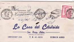 1965 COMMERCIAL COVER-LA CASA DEL CELULOIDE. CIRCULEE BUENOS AIRES ARGENTINE. BANDELETA PARLANTE. FULL CONTENT IN- BLEUP - Lettres & Documents