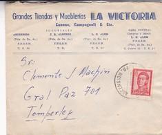 1951 COMERCIAL COVER- MUEBLERIA LA VICTORIA. CIRCULEE BUENOS AIRES, ARGENTINE.- BLEUP - Argentine
