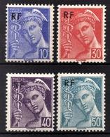 FRANCE 1944 -  SERIE  Y.T. DU N° 657 A 660 - 4 TP NEUFS** - - France