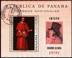 5904BIS ) Panama 1967 BF-USATO Goya, Dipinti-ARTE - Panama