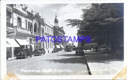 115830 ARGENTINA ENTRE RIOS PARANA STREET CALLE ESPAÑA & TRANVIA TRAMWAY  POSTAL POSTCARD - Argentine