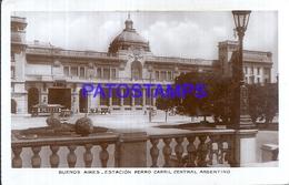 115833 ARGENTINA BUENOS AIRES STATION TRAIN ESTACION DE TREN CENTRAL & TRAMWAY TRANVIA POSTAL POSTCARD - Argentine