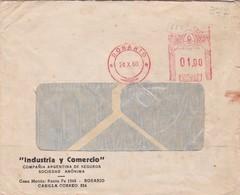 1960 COMMERCIAL COVER- INDUSTRIA Y COMERCIO SA. CIRCULEE ROSARIO ARGENTINE. BANDELETA PARLANTE- BLEUP - Lettres & Documents