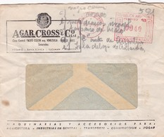 1959 COMMERCIAL COVER- AGAR CROSS & CO LTD. CIRCULEE ARGENTINE FRANKING MACHINE- BLEUP - Argentine
