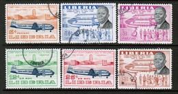 LIBERIA  Scott # 362-3,C 107-10 VF USED  (Stamp Scan # 522) - Liberia