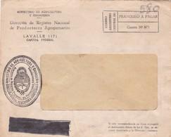 1958 COMMERCIAL COVER- MINISTERIO DE AGRICULTURA Y GANADERIA. CIRCULEE BUENOS AIRES ARGENTINE- BLEUP - Argentine
