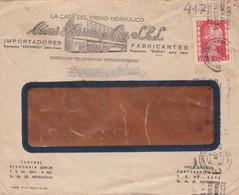 1953 COMMERCIAL COVER- LA CASA DEL FRENO HIDRAULICO CESAR FERRERO Y CIA. CIRCULEE BUENOS AIRES, BANDELETA PARLANT- BLEUP - Argentine