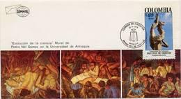 Lote 1377F, Colombia, 1978, SPD - FDC, Monumentos, U De A, Mural De Pedro Nel Gomez, Arenas Betancur - Colombia
