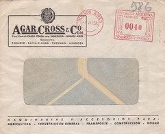 1958 COMMERCIAL COVER- AGAR CROSS & CO LTD. CIRCULEE BUENOS AIRES ARGENTINE BANDELETA PARLANTE- BLEUP - Argentinien
