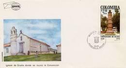Lote 1378F, Colombia, 1978, SPD - FDC, Monumentos,  Convencion De Ocaña, Church - Colombia