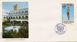 Lote 1379F, Colombia, 1978, SPD - FDC, Monumentos, U De Cartegena, Indigenous Woman - Colombia