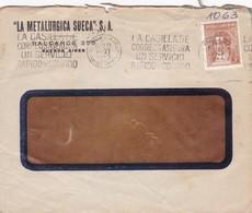 1941 COMMERCIAL COVER- LA METALURGFICA SUECA, SA. CIRCULEE ARGENTINE. BANDELETA PARLANTE, AUTRES MARQUES - BLEUP - Argentine