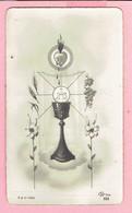 Plechtige H. Communieprentje - Marie José CUSTERS - Overpelt 1955 - Devotion Images