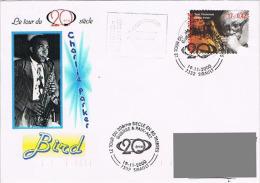 "Belgique - FDC ""Musique - Jazz - Charlie Parker (Bird)"" - Sirault 19 Nov 2000 - Musique"