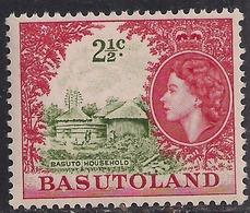 Basutoland 1964 QE2 2 1/2ct Basuto Household Umm SG 86 ( R1204 ) - 1933-1964 Crown Colony