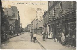 D92 - PUTEAUX - RUE DE LA REPUBLIQUE - LES ECOLES - Nombreuses Personnes - Café-Epicerie - Pots De Lait - Puteaux