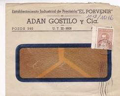 1940'S COMMERCIAL COVER- EL PORVENIR, ADAN GOSTILO Y CIA. CIRCULEE AVELLANEDA ARGENTINE- BLEUP - Argentine