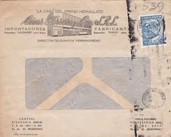 1950'S COMMERCIAL COVER- LA CASA DEL FRENO CESAR FERRERO Y CIA. CIRCULEE ARGENTINE, BANDELETA PARLANTE- BLEUP - Argentine