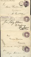 Mexico 4 Covers MEPSI #E62 Used CHIAPAS CHIHUAHUA TAPACHULA To Germany1903-1911 - Mexique