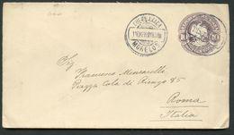 Mexico Envelope MEPSI #E62 10 Cent. Used CUERNAVACA MORELOS To ITALIA 1913 - Mexico