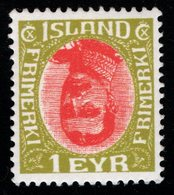 R866.-. ICELAND - 1920 - SC#: 108 - MINT- INVERTED CENTER - FANTASY STAMP - Ungebraucht