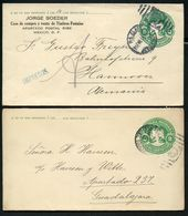 Mexico 2 Covers MEPSI #E64 Used As Printed Matter To Germany 1911 + Guadelajara - Mexique
