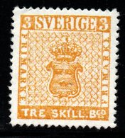 R867.-. SWEDEN - 1855 - SC#: 1a - MINT- 3 SKILL - FANTASY STAMP - Neufs